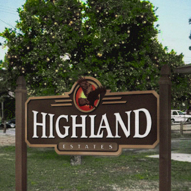 custom residential development signs outdoor sign manufacturer chicago strata